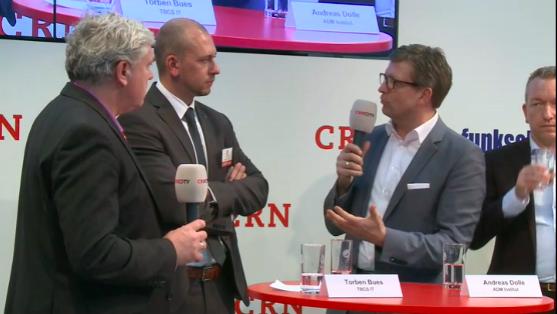 Andreas Dolle im Expertengespräch auf der CeBit