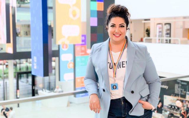 Gastrednerin Mohanna Azarmandi, CLO Microsoft Deutschland